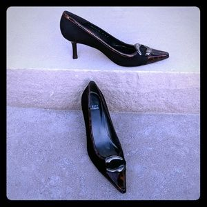 Stuart weitzman heels leather sole black 9.5